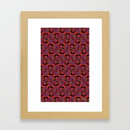 Patterned Abstract Love Repeat Pattern Framed Art Print