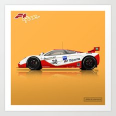 McLaren F1 GTR #03R - 1996 Le Mans - Side View Art Print
