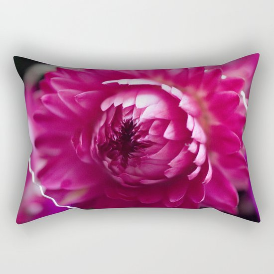 Hot Pink Flower #1 #art #society6 Rectangular Pillow