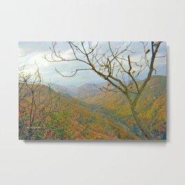 Hiking Through The Mountains Metal Print