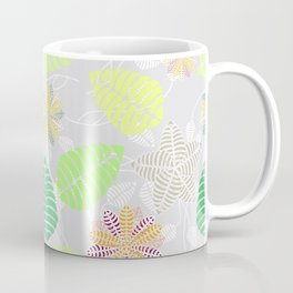 Colorful Tropical Floral Leaf Pattern Coffee Mug