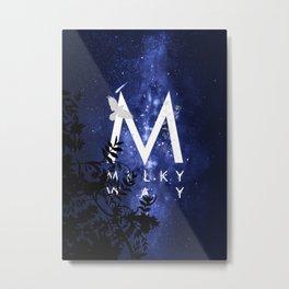 Starry Night and Moon #7: Milky Way Metal Print