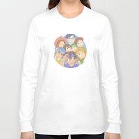 digimon Long Sleeve T-shirts featuring Chosen Children by wattleseeds