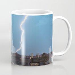 Lightning wall art, lightning church, lightning prints, storm wall art, messina stampa Coffee Mug