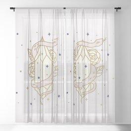 MAGICAL SNAKE AND CRYSTAL - mystic art Sheer Curtain