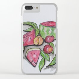 Watermelons And Apples Clear iPhone Case
