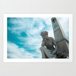 Sky/Statue#2 Art Print