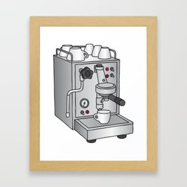 Espresso machine filter-holder Barista Framed Art Print