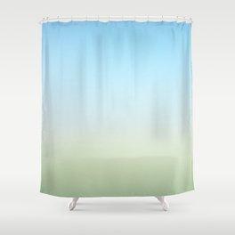 Color Field Landscape Shower Curtain