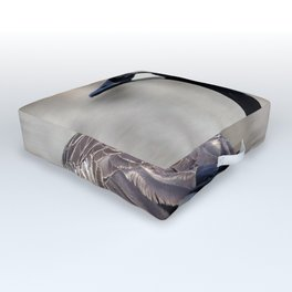 Watercolor Bird Canada Goose 02, See Ya Later Outdoor Floor Cushion