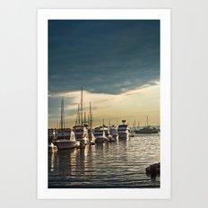 Newport Boats Art Print