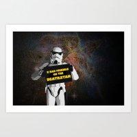 storm trooper Art Prints featuring Storm Trooper by ZeebraPrint
