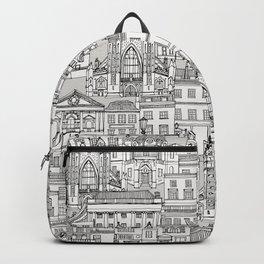 Bath toile black silver Backpack