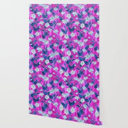 Justina Floral Hot Pink Wallpaper