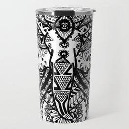 Zentangle Elephant Travel Mug
