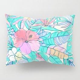 Pretty Pastel Hawaiian Hibiscus Print Pillow Sham