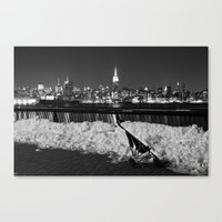 manhattan Canvas Prints featuring Manhattan by Diego Ituño