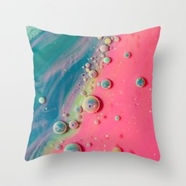 Cotton Candy Geode Bubble Galalxy Throw Pillow