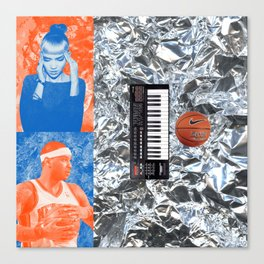 Carmelo Anthony & Grimes Blind Date Rainforest Cafe Leftovers 2014 Canvas Print