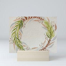 Fern Watercolour Wreath Mini Art Print