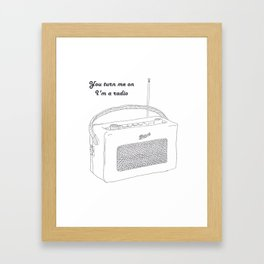 Joni Mitchell You Turn Me On I'm A Radio Framed Art Print