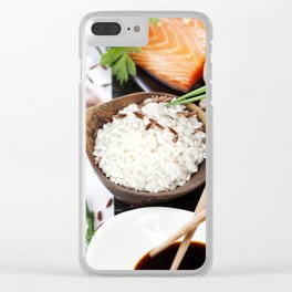 traditional asian ingredients Clear iPhone Case