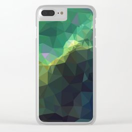 Galaxy low poly 3 Clear iPhone Case
