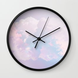 Whimsical Pastel Candy Sky #surreal #society6 Wall Clock