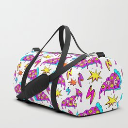 Crazy space alien pizza attack! Duffle Bag
