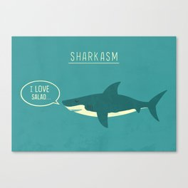 Sharkasm Canvas Print