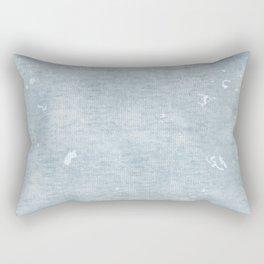 distressed chambray denim Rectangular Pillow