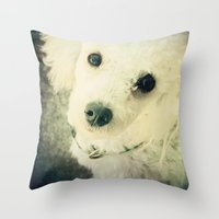 poodle Throw Pillows featuring Poodle by JMcCool