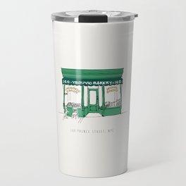Vesuvio Bakery Storefront, NYC, New York City Travel Mug