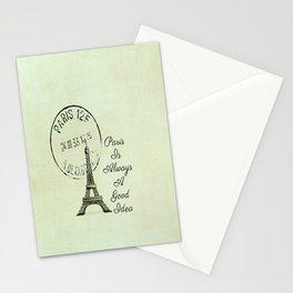 White Paris is Always a Good Idea Audrey Hepburn  Stationery Cards
