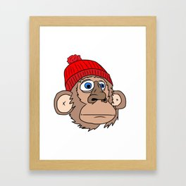 Monkey Mountaineer Framed Art Print