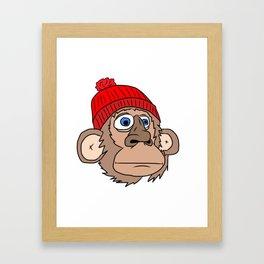 Monkey Mountaineer Framed Art Print