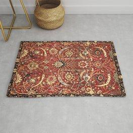 Sickle-Leaf 17th Century Antique Persian Carpet Print Rug