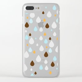 Water Pattern Clear iPhone Case
