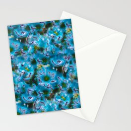 Blue Wild Flower Photographic Pattern Stationery Cards