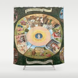 Hieronymus Bosch The Seven Deadly Sins And The Four Last Things Shower Curtain