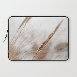 Beach Grass Photo | Nature Plantlife Photography | Warm Glow Over Beach Grass Laptop Sleeve