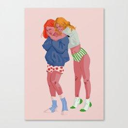 Soft girlfriends Canvas Print