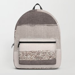 Blush tones watercolor ombre gold glitter brushstrokes Backpack