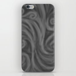 Dark Gray Swirl iPhone Skin