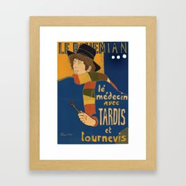 Le Bohemian Doctor Who by Lautrec Framed Art Print