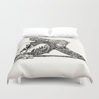 jay fleck Duvet Covers featuring Jay Adams by Travis Poston