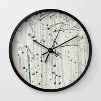 narnia Wall Clocks featuring Aspen I by Laura Ruth