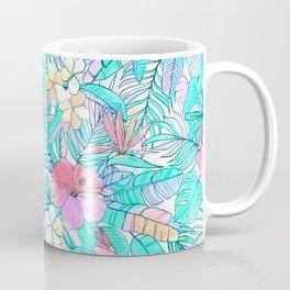 Pretty Pastel Hawaiian Hibiscus Print Coffee Mug