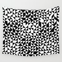 triangles Wall Tapestries featuring TRIANGLES by THE USUAL DESIGNERS