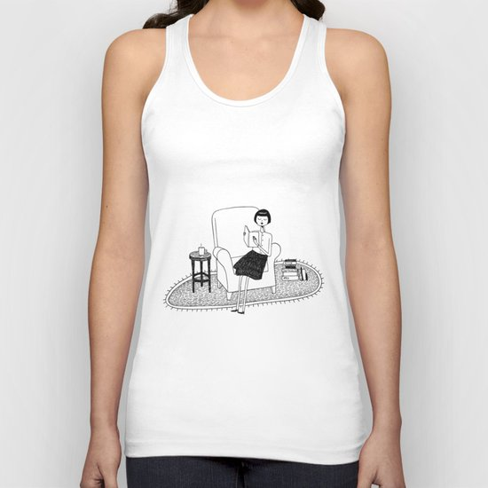 I'll get by as long as I have books Unisex Tank Top
